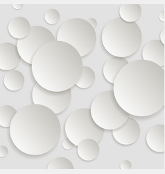 paper round background with drop shadows vector image