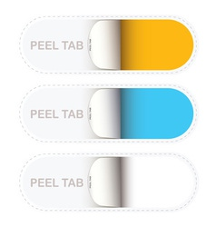 paper tabs vector image