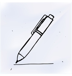 Pen with line hand drawn doodle object vector
