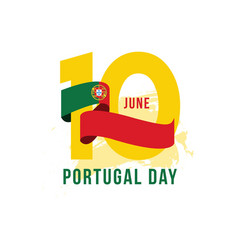 Portugal day template design vector