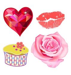 Romance lovely set vector image