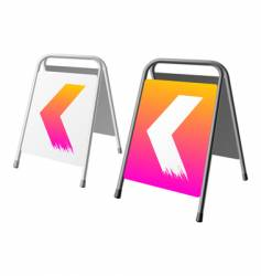 Sandwich board vector