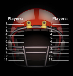 scoreboard with american football helmet vector image
