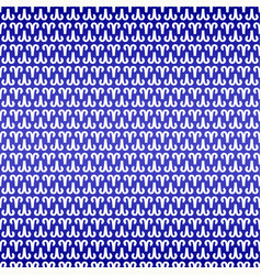 Seamless pattern with zodiac sign aries vector