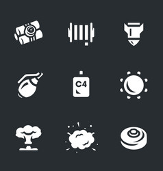 set explosive icons vector image