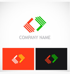 shape colored geometry logo vector image