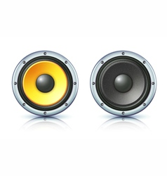 sound loud speakers vector image