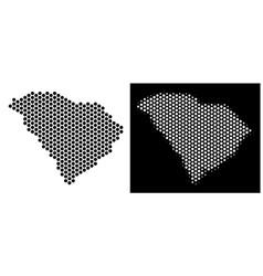 South carolina state map hexagon mosaic vector