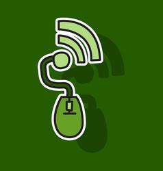 sticker unusual look wifi signal vector image