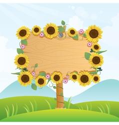 Summer wood signage vector