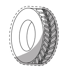 tire icon image vector image