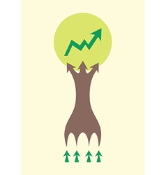 Tree infographic design for office concept of vector