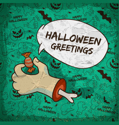 trick or treat halloween template vector image