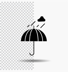 umbrella camping rain safety weather glyph icon vector image