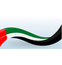 united arab emirates waving national flag modern vector image