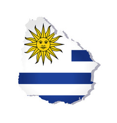 uruguay flag amp map vector image