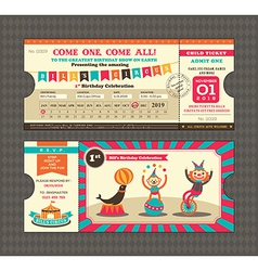 Birthday card Ticket style vector image
