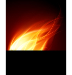 Burning Flames Background vector image