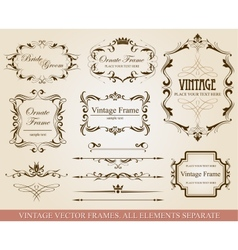 Different vintage frames vector image vector image