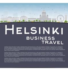 Helsinki skyline and copy space vector image