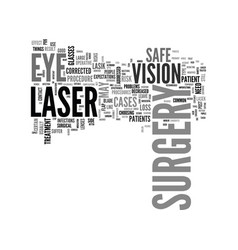 Is laser eye surgery safe text background word vector