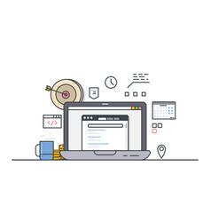 Online computer targeting vector