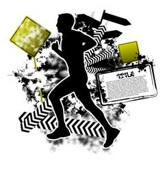 running grunge vector image vector image