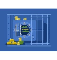 Bank safe flat design vector image vector image