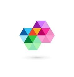 Cross plus medical mosaic logo icon design vector image vector image