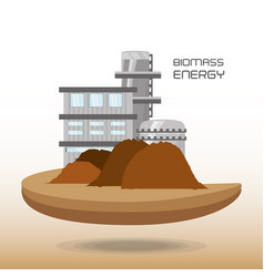 landscape related with biomass energy vector image