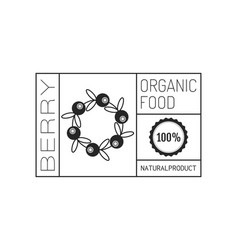 organic food logo badge label for healthy vector image vector image