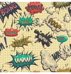 seamless pattern of comic speech bubble vector image