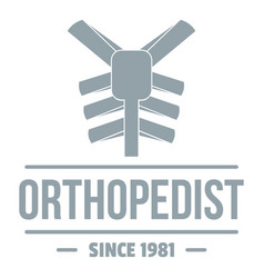 Spine orthopedic logo simple gray style vector