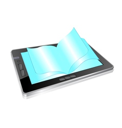 tablet book vector image vector image
