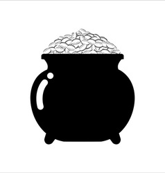 Pot of gold icon on white background Isolated vector image vector image