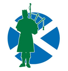 Scottish piper flag vector
