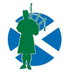 Scottish Piper Flag vector image
