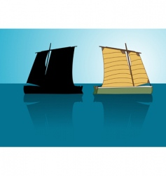 Asian boat vector image vector image