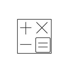 calculator line icon accounting symbol vector image vector image