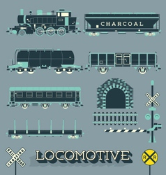 Model Train Collection vector image vector image