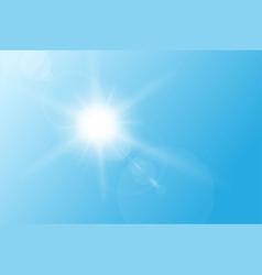Sun flare vector image vector image