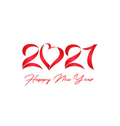 2021 lovely red lettering vector image