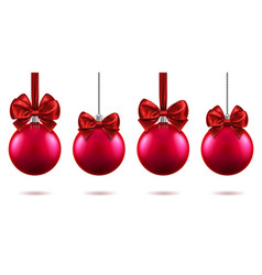 3d fir tree toys with bow for 2019 new year xmas vector image