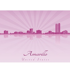 Amarillo skyline in purple radiant orchid vector