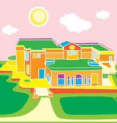 Architecture cartoon vector