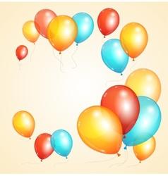ballon card vector image