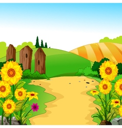 beauty landscape for you design vector image