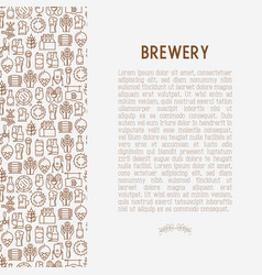 beer concept with thin line icons vector image