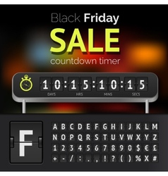 Black Friday sale countdown timer vector