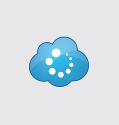 Blue cloud loading icon vector image